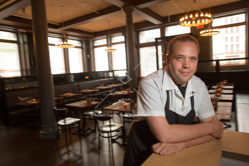 Chef Shane Lyons of Distilled in New York. <br /> <br /> (Photo by Robert Caplin)
