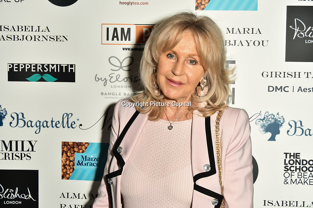 Liz Brewer Arrivers at Nina Naustdal catwalk show SS19/20 collection by The London School of Beauty & Make-up at Bagatelle on 26 Feb 2019, London, UK.