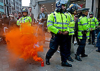 "Conflict between police and rioters at ""March for the Alternative"" protest London 26 March 2011"