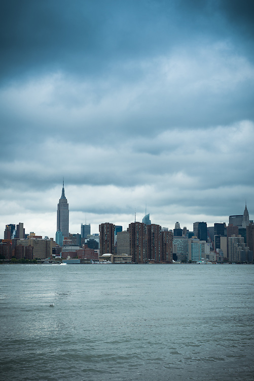 Manhattan skyline and East River seen from Brooklyn