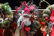 Wreaths at a Christmas Market in Munich, southern Germany