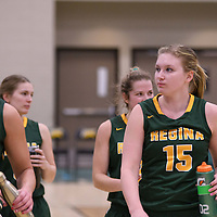 2nd year forward Alexi Rowden (15) of the Regina Cougars during the home game on November  5 at Centre for Kinesiology, Health and Sport. Credit: Arthur Ward/Arthur Images
