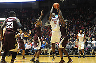 "Mississippi Rebels center Dwight Coleby (23) vs. Texas A&M at the C.M. ""Tad"" Smith Coliseum in Oxford, Miss. on Wednesday, February 4, 2015. (AP Photo/Oxford Eagle, Bruce Newman)"