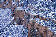 Snowy cliffs of the south rim of the Grand Canyon, winter, Grand Canyon National Park, Arizona