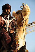 Tuareg man during the opening ceremony of the 2010 Festival au Désert in Timbuktu