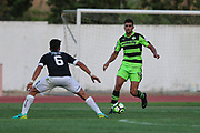 Forest Green Rovers Omar Bugiel(11) runs forward during the Pre-Season Friendly match between SC Farense and Forest Green Rovers at Estadio Municipal de Albufeira, Albufeira, Portugal on 25 July 2017. Photo by Shane Healey.
