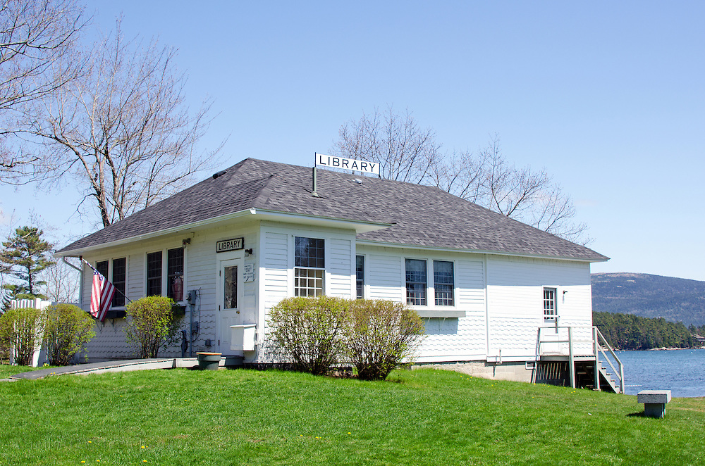 The public library at Somesville, Maine.