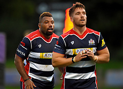 Nick Fenton-Wells (c) of Bristol United and Jamal Ford-Robinson of Bristol United  - Mandatory by-line: Joe Meredith/JMP - 12/09/2016 - RUGBY - Clifton RFC - Bristol, England - Bristol United v Harlequins A - Aviva A League