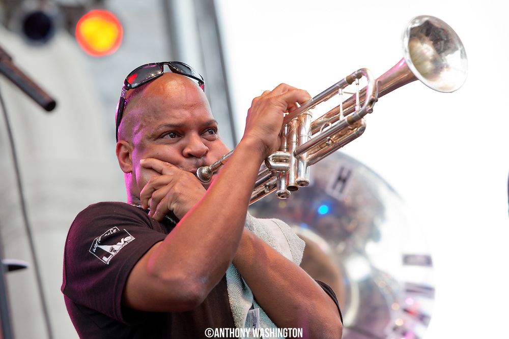Derek Shezbie of the Rebirth Brass Band performs at Artscape 2012 on Sunday, July 22, 2012 in Baltimore, MD.
