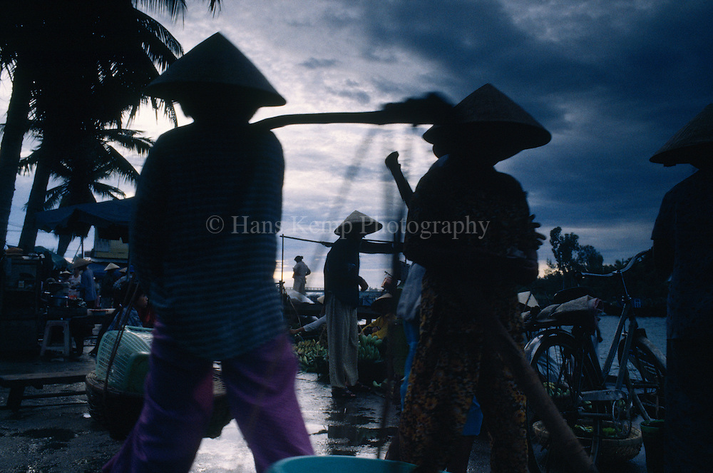 Going to the market in Hoi An, Vietnam