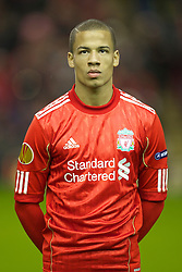 LIVERPOOL, ENGLAND - Wednesday, December 15, 2010: Liverpool's Nathan Eccleston before the UEFA Europa League Group K match against FC Utrecht at Anfield. (Photo by: David Rawcliffe/Propaganda)