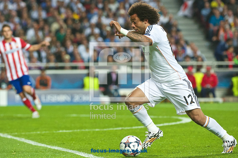 Marcelo of Real Madrid during the UEFA Champions League Final at Est&aacute;dio da Luz, Lisbon<br /> Picture by Ian Wadkins/Focus Images Ltd +44 7877 568959<br /> 24/05/2014