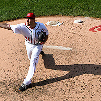 WASHINGTON, DC - June 11:  Washington Nationals starting pitcher Max Scherzer (31) pitches in the fifth inning during an MLB game between the Texas Rangers and the Washington Nationals on June 11, 2017, at Nationals Park in Washington, D.C.  (Photo by Mark Goldman/Icon Sportswire)