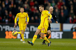 Adam Lallana of Liverpool passes - Photo mandatory by-line: Rogan Thomson/JMP - 07966 386802 - 26/12/2014 - SPORT - FOOTBALL - Burnley, England - Turf Moor Stadium - Burnley v Liverpool - Boxing Day Christmas Football - Barclays Premier League.