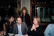 MANUELA WIRTH ABOVE; RUBY DANOWSKI; GUS DANOWSKI; MARY MOORE, Henry Moore Exhibition. Hauser and Wirth. 15 Old Bond St. and afterwards dinner at the Burlington arcade. 14 October 2008 *** Local Caption *** -DO NOT ARCHIVE -Copyright Photograph by Dafydd Jones. 248 Clapham Rd. London SW9 0PZ. Tel 0207 820 0771. www.dafjones.com