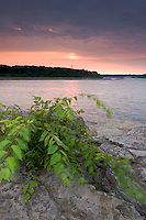 Sunset over Ohio River, The Falls of the Ohio State Park, Indiana