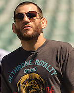 SYDNEY, AUSTRALIA, FEBRUARY 24, 2011: Jon Fitch is pictured on the field during a media event at Sydney Football Stadium in Sydney, Australia on February 24, 2011