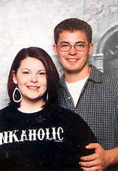 21 May 2015. Laurel, Mississippi.<br /> Collect photos of plus size model Tess Holliday (formerly known as Tess Munster, née Ryann Hoven) in her formative years from a family album. Tess and her brother Tad at high school.<br /> Photo credit; Tadlock via Varleypix.com