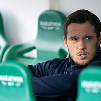 Hibs v St Johnstone…03.11.18…   Easter Road    SPFL<br />Danny Swanson on the bench for saints today<br />Picture by Graeme Hart. <br />Copyright Perthshire Picture Agency<br />Tel: 01738 623350  Mobile: 07990 594431