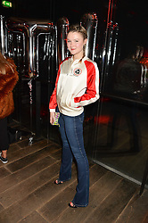 AMBER ATHERTON at a party to celebrate the launch of the Beth Ditto Clothing Line held at The London Edition, Berners Street, London on 18th February 2016.