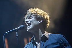 Paolo Nutini on stage tonight at the Usher Hall, Edinburgh.