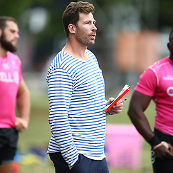 DURBAN, SOUTH AFRICA - MAY 15: Shaun Sowerby during the Cell C Sharks training session at Jonsson Kings Park on May 15, 2018 in Durban, South Africa. (Photo by Steve Haag/Gallo Images)