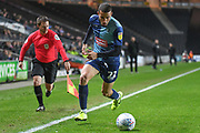 Wycombe Wanderers midfielder Nick Freeman (22) sprints forward with the ball during the EFL Trophy match between Milton Keynes Dons and Wycombe Wanderers at stadium:mk, Milton Keynes, England on 12 November 2019.