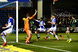 Ellis Harrison of Bristol Rovers scores a goal which is disallowed as the ball went out of play in the build up to it - Mandatory by-line: Dougie Allward/JMP - 23/12/2017 - FOOTBALL - Memorial Stadium - Bristol, England - Bristol Rovers v Doncaster Rovers - Skt Bet League One