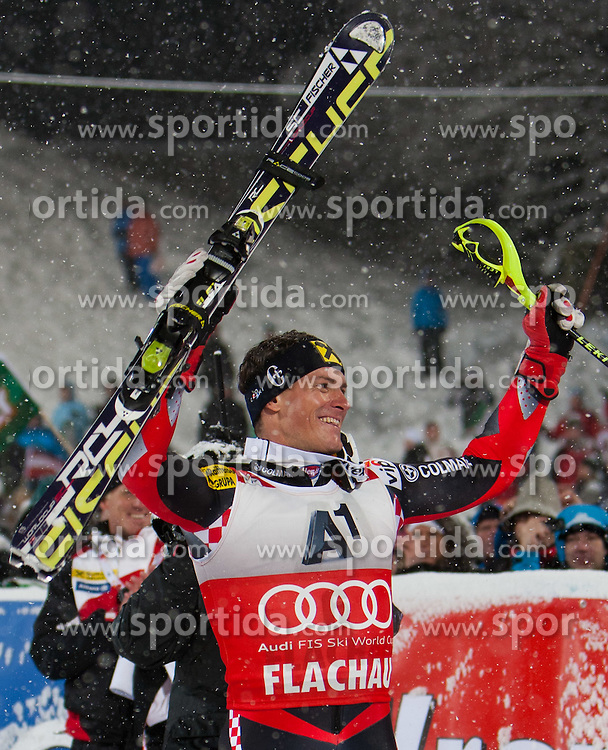 21.12.2011, Hermann Maier Weltcup Strecke, Flachau, AUT, FIS Weltcup Ski Alpin, Herren, Slalom Podium, im Bild v.l.n.r Ivica Kostelic (CRO, Rang 1) // first place Ivica Kostelic of Croatia f.l.t.r. on Podium Slalom of FIS Ski Alpine World Cup at Hermann Maier Pist in Flachau, Austria on 2011/12/21. EXPA Pictures © 2011, PhotoCredit: EXPA/ Johann Groder