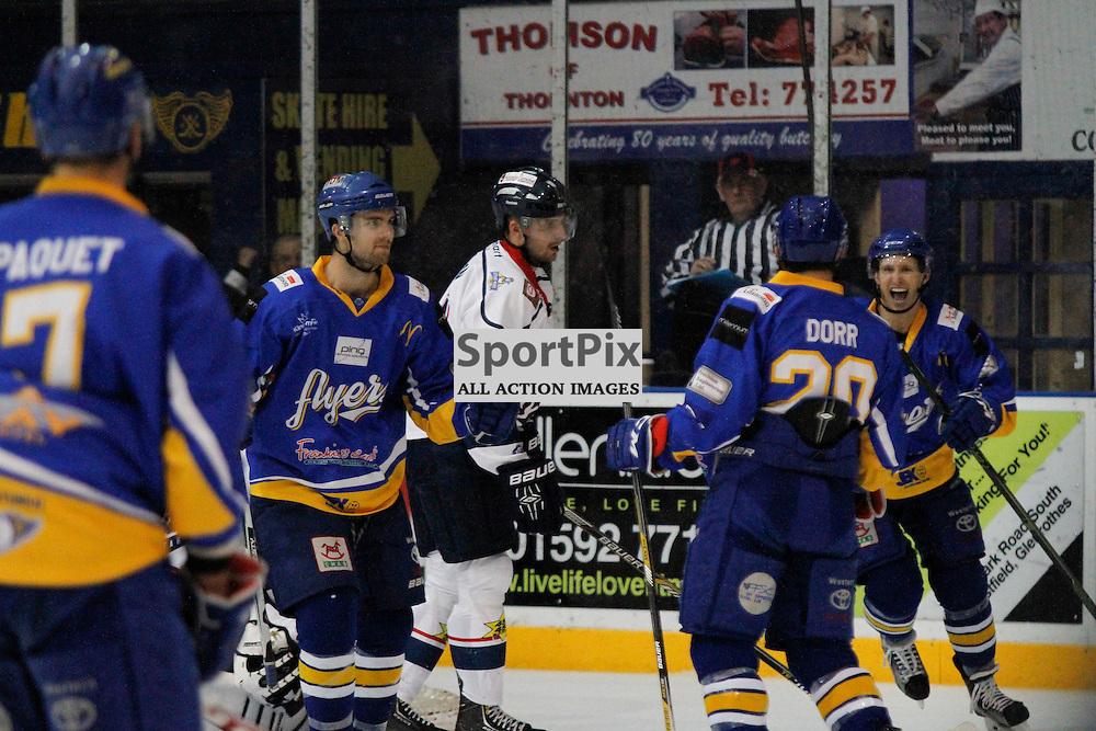 Fife Flyers V Dundee Stars, Elite Ice Hockey League, 5 December 2015Fife Flyers V Dundee Stars, Elite Ice Hockey League, 5 December 2015<br /> <br /> FIFE FLYERS #67 PATRICK CULLEN IS JOYUS AS FIFE SCORE ANOTHER
