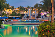 El Conquistador, Resort, Hotel, Pool, Dusk, Night, Las Croabas Fajardo, Puerto Rico, USA,  Caribbean; Island; Greater Antilles; Commonwealth Puerto Rico