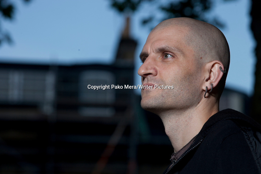 China Mieville during the Edinburgh International Book Festival 2012 in Charlotte Square Gardens. Photograph taken 17/08/2012<br /> <br /> Picture by Pako Mera/Writer Pictures