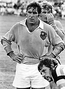 Colin Meads during a special rugby match advertised as his last. This was played in Te Kuiti on 6 April 1975 between Centurions (48) v Olympians (36).<br /> Copyright photo: Ron Cooke / www.photosport.nz
