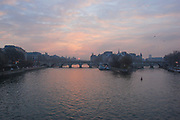 The sun also rises, this time over the Seine seen here from the Pont des Arts