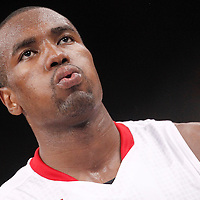 15 July 2012: Serge Ibaka of Team Spain is seen during a pre-Olympic exhibition game won 75-70 by Spain over France, at the Palais Omnisports de Paris Bercy, in Paris, France.