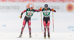 20.02.2016, Salpausselkae Stadion, Lahti, FIN, FIS Weltcup Nordische Kombination, Lahti, Team Sprint, Langlauf, im Bild v.l.: Lukas Klapfer (AUT), Bernhard Gruber (AUT) // f.l.: Lukas Klapfer of Austria, Bernhard Gruber of Austria competes during Cross Country Team Sprint Race of FIS Nordic Combined World Cup, Lahti Ski Games at the Salpausselkae Stadium in Lahti, Finland on 2016/02/20. EXPA Pictures © 2016, PhotoCredit: EXPA/ JFK