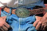 Prize rodeo belt buckle, Arthur County, NE
