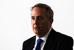 Tory Leadership hopeful Dr Liam Fox MP sets out his manifesto at a press conference in Westminster, London.