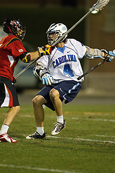 23 April 2010: North Carolina Tar Heels  attackman Billy Bitter (4) during a 13-5 loss to the Maryland Terrapins in the first round of the ACC Tournament at Byrd Stadium in College Park, MD.