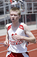 Trotwood competes in the combined Boys and Girls 3200 Meter Run during the Buff Taylor Memorial Track & Field Invitational at the Good Samaritan Sports Plex at Trotwood Madison High School, Saturday, May 10, 2008.