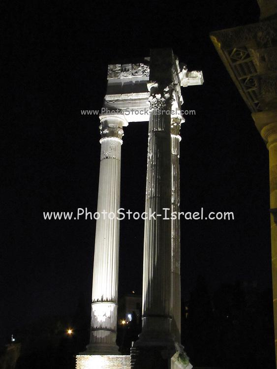Italy, Rome, Teatro Marcello at night