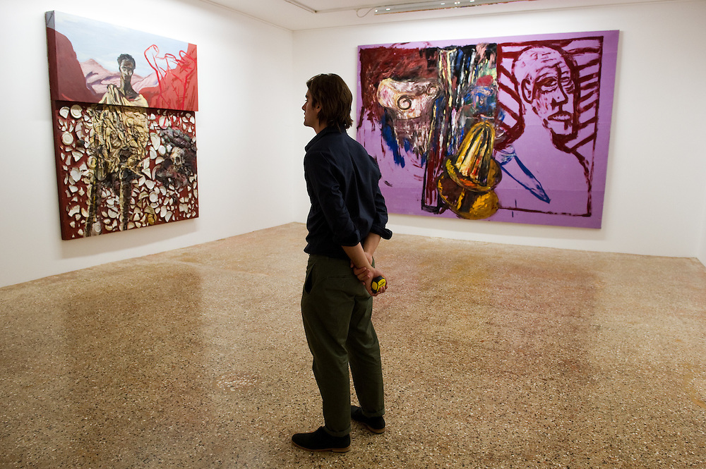 """Press preview of Julian Schnabel - """"Permanently Becoming And The Architecture Of Seeing"""" part of 54th International Art Biennale in Venice"""