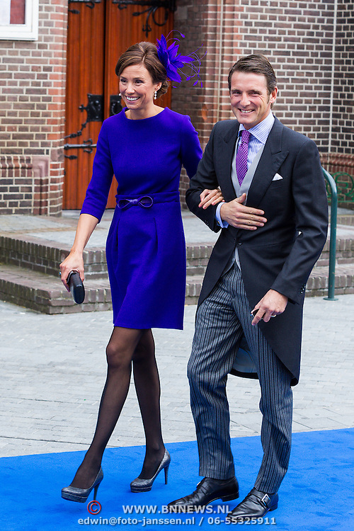 NLD/Apeldoorn/20130105 - Huwelijk prins Jaime en prinses Viktoria Cservenyak, prins Maurits en Marilene