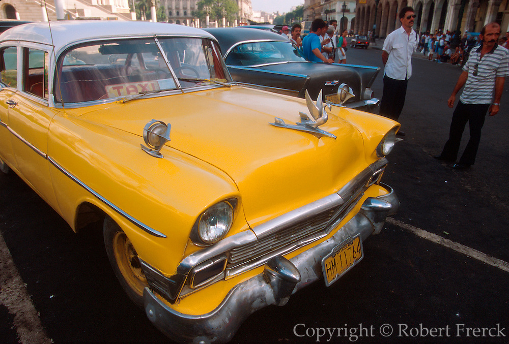 CUBA, HAVANA (CENTRO HABANA) Cuba is famous for maintaining its antique American pre-revolution automobiles
