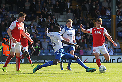 Leon Barnett of Bury tackles Cameron Brannagan of Fleetwood Town (R) - Mandatory by-line: Jack Phillips/JMP - 25/03/2017 - FOOTBALL - Gigg Lane - Bury, England - Bury v Fleetwood Town - Football League 1