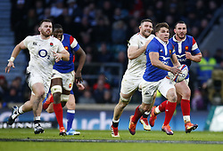February 10, 2019 - London, England, United Kingdom - Antoine Dupont of France.during the Guiness 6 Nations Rugby match between England and France at Twickenham  Stadium on February 10th, 2019 in Twickenham, London,  England. (Credit Image: © Action Foto Sport/NurPhoto via ZUMA Press)