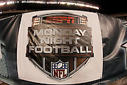 A Monday Night Football sign hangs on sideline wall during the Philadelphia Eagles NFL week 9 football game against the Chicago Bears on Monday, November 7, 2011 in Philadelphia, Pennsylvania. The Bears won the game 30-24. ©Paul Anthony Spinelli
