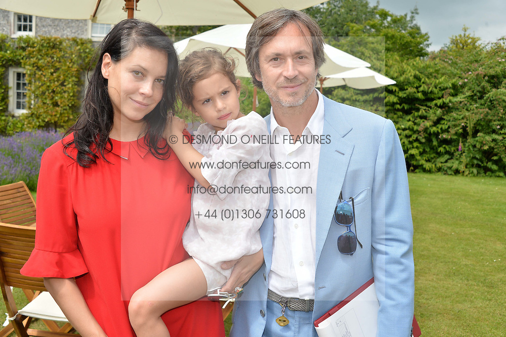 MARC NEWSON and CHARLOTTE STOCKDALE with theire daughter LUCIENNE at the Cartier hosted Style et Lux at The Goodwood Festival of Speed at Goodwood House, West Sussex on 26th June 2016.