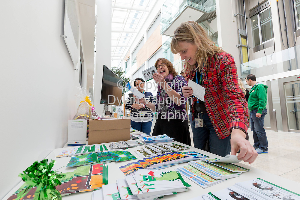 Repro Free No Charge for Repro<br /> 27-2-15<br /> Pictured at Genzyme Waterford for Rare Disease Day 2015 are (l/r) Mairead O&rsquo;Shea; Dairiona Lee and Cathrina Houlihan. Rare Disease Day takes place worldwide on the last day of February each year to raise awareness among the general public and decision-makers about rare diseases and their impact on patients' lives. (Pic: Dylan Vaughan).