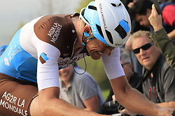 Stijn Vandenbergh (BEL) AG2R La Mondiale climbs the Paterberg for the last time during the 2019 Ronde Van Vlaanderen 270km from Antwerp to Oudenaarde, Belgium. 7th April 2019.<br /> Picture: Eoin Clarke | Cyclefile<br /> <br /> All photos usage must carry mandatory copyright credit (© Cyclefile | Eoin Clarke)